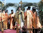Luostarin apotti Nikitaras Antipas ja munkit elävät uudelleen opetuslasten jalkojen pesun.